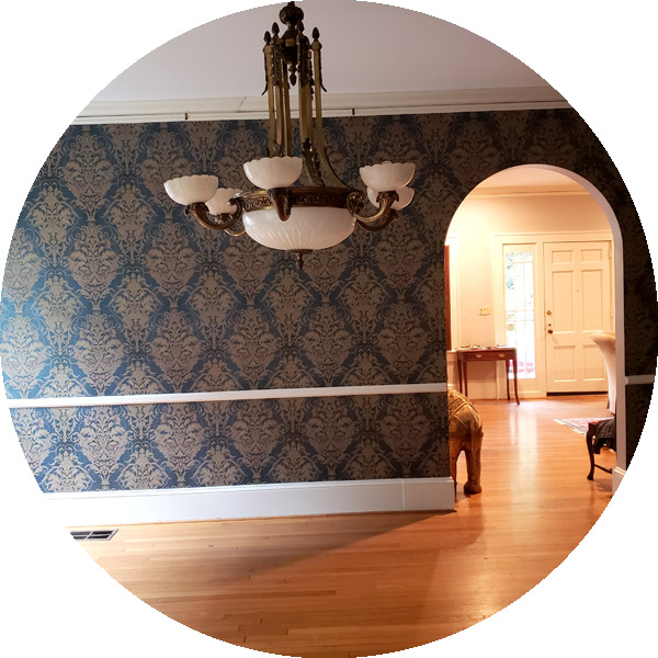 Professional wallpaper installation