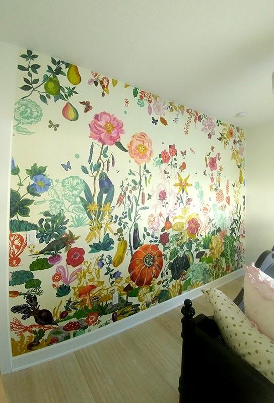 Professional wallpaper installation